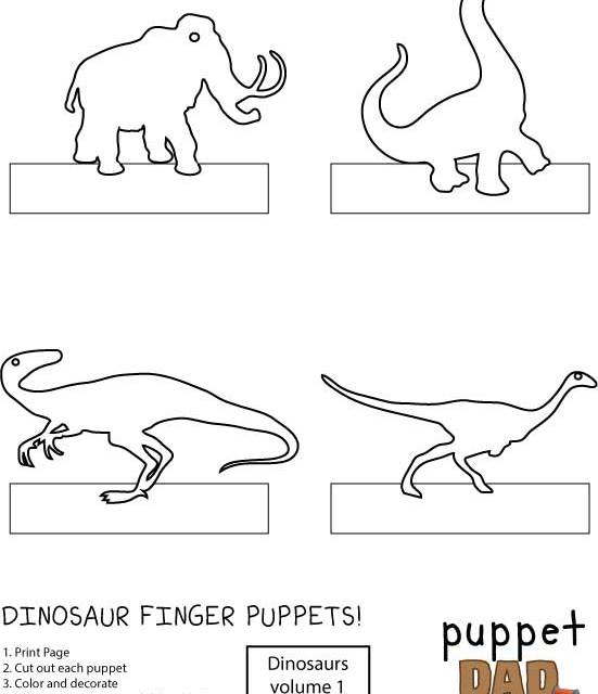 Dinosaur Finger Puppets – Part 1