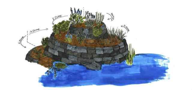 Illustration Kräuterspirale