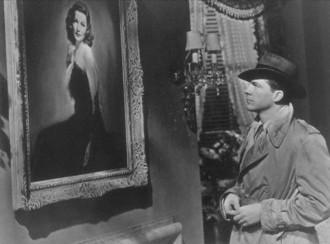 A imagem de Laura fascina o policial no filme clássico