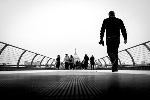 London, Millennium Bridge, 2020