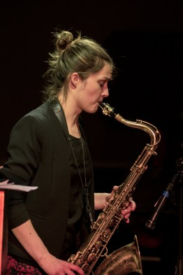 Trish Clowes performing at Fleet Jazz on 18th April 2017. Photograph courtesy of Michael Carrington (Aldershot, Farnham & Fleet Camera Club)