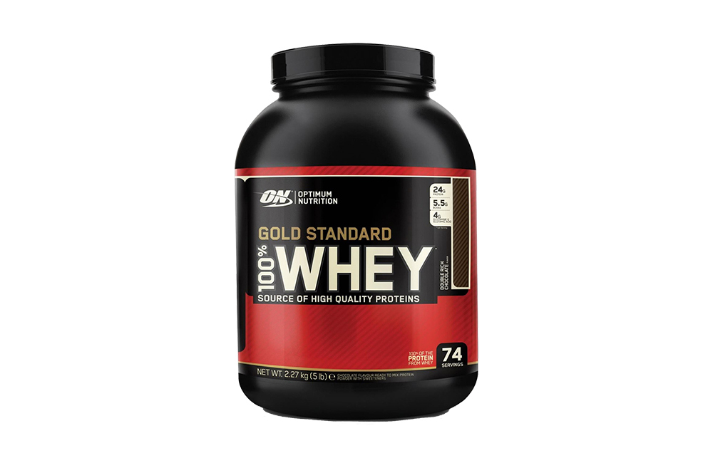 Optimum Nutrition whey protein powder