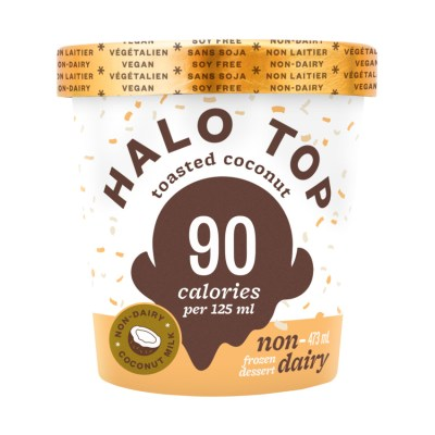 Halo Top Non-Dairy Frozen Dessert Toasted Coconut