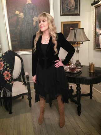 stevie nicks on american horror story coven set