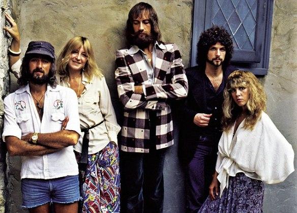 Fleetwood Mac: Mick Fleetwood, Christine McVie, John McVie, Stevie Nicks and Lindsey Buckingham at the time of Rumours
