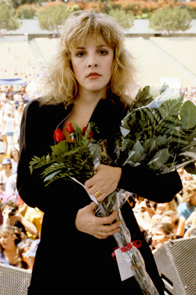 Stevie at the Rock n' Run benefit at UCLA in 1983