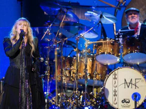 Tambourine woman: Stevie Nicks and Mick Fleetwood Getty Images
