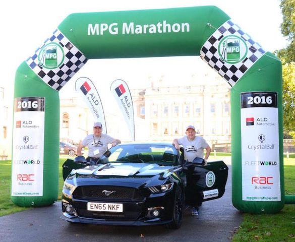 Ford Mustang muscle car wins MPG Marathon
