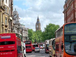London street with traffic