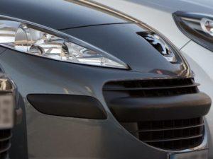 Image of grey Peugeot front end