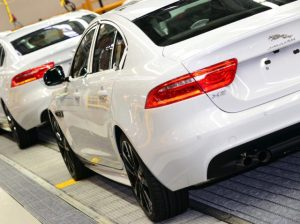 Jaguar XE on UK production line