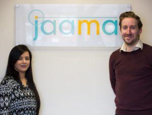 New Jaama business analysts Rajini Doel and Stuart Whitehurst