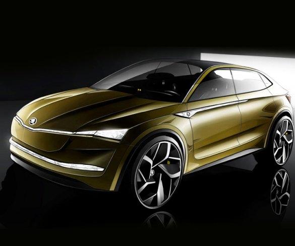 Skoda previews electric crossover