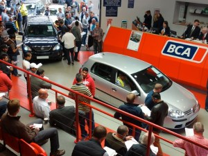 Used cars at auction