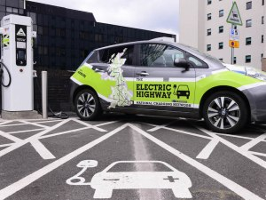 Electric car by Ecotricity charging station