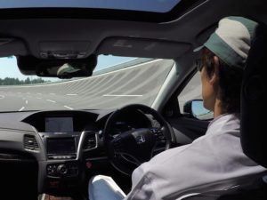 Honda demo of automated driving
