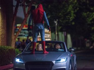 The A8 will have a cameo role in the forthcoming Spider-Man film, including showcasing its Traffic Jam Pilot tech.