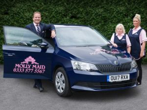 Molly Maid COO, Jonathan Holden, said the vehicles will act as a roaming billboard for the company.