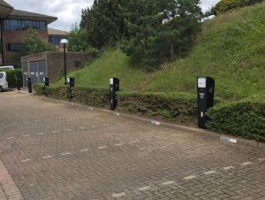 Tusker EV chargers at its Watford HQ