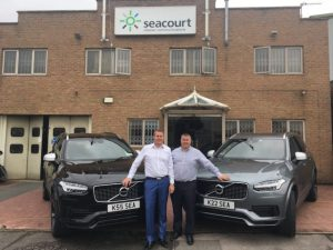 Seacourt directors, Gareth (left) and Nick Dinnage, with their new XC90s.