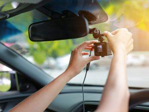 Dash cam in vehicle