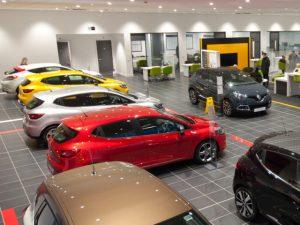 Renault dealership showroom