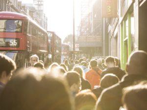 London smog street