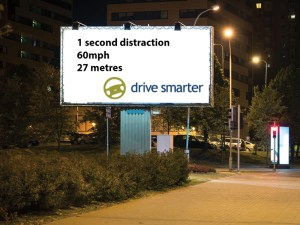 Roadside advertising billboards could pose an unacceptable risk