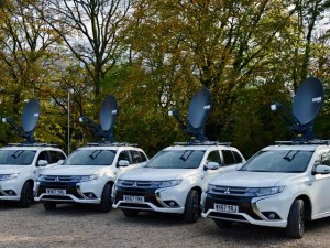 ITV has deployed four specially converted Mitsubishi Outlander PHEVs