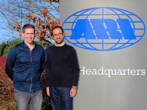L-R: Simon Cayless and Nimesh Chauhan at ARI UK headquarters