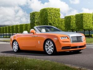 Rolls-Royce Dawn in orange
