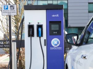 EV charging point at Maxim office park