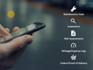 The FleetWave Forms app enables users to custom-build data collection forms