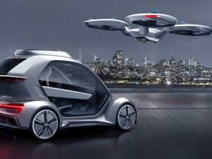 Audi says the Pop.Up Next modular concept could help solve traffic problems in cities.