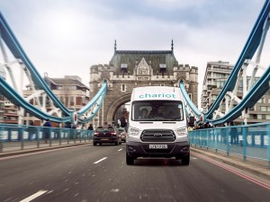 Ford started its Chariot commuter shuttle services using minibuses in London in February 2018