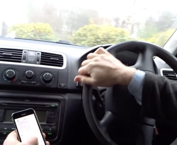 Fifth of fleet drivers suffer accidents from using mobiles at wheel
