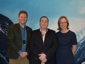 David Norton, Bjorn Erik B Helgeland and Andrea Davis of ABAX
