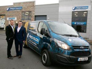 (L-R) ProVision co-founders Mervyn O'Callaghan and Simon Murray