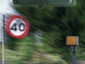 Speed limit and camera