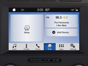 Plug your phone into a compatible Ford with SYNC 3 and view Waze on a bigger screen plus control it using your voice