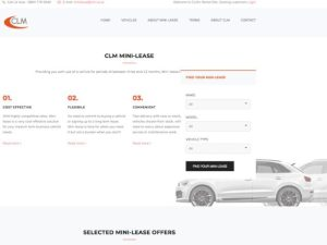CLM's dedicated Mini-lease site offers a range of cars and vans on durations from 3 to 12 months