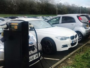 Unipres has added several charge points in the corporate car park to drive EV take-up