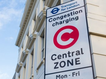 Congestion Charge signage on Millbank