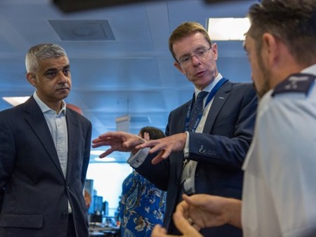 (L-R) Sadiq Khan, the Mayor of London, and Andy Street, the Mayor of the West Midlands Combined Authority