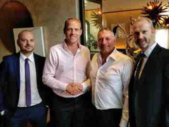 (L-R)Alessandro De Santis, Leasys UK; Martin Forbes, Cox Automotive UK;Roberto Bellavia, Leasys UK;Alan Verlaan, Leasys UK