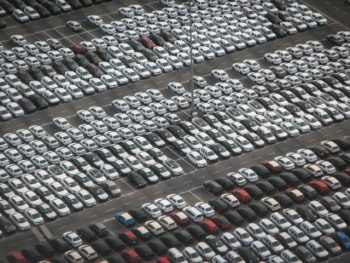 Cars in storage