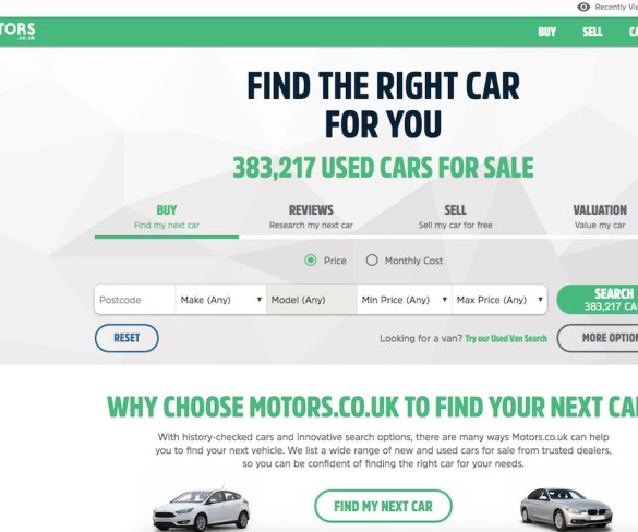 Cox Automotive to sell Motors.co.uk to eBay