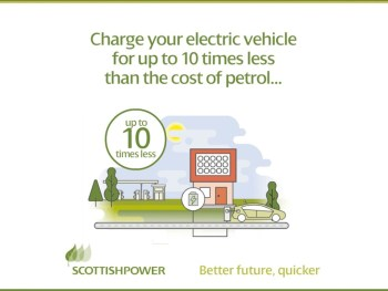 ScottishPower's new tariff claims the cost to EV drivers is a tenth of the cost per mile of a standard petrol car