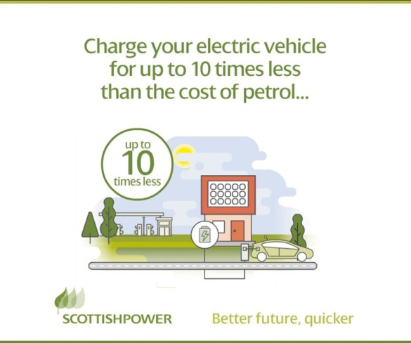Drive electric for a tenth the cost of a petrol car, says ScottishPower