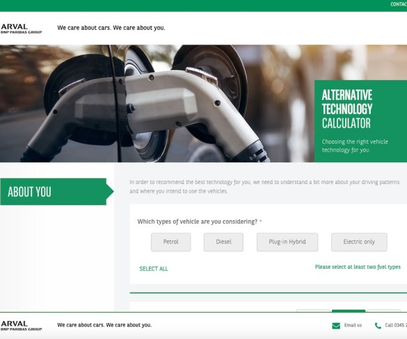 Online Arval tool assesses viability of EVs and hybrids